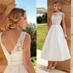 Gorgeous Boat Neck Backless Tea Length Wedding Dresses Vestido De Noiva 2016 Custom Made Beaded Belt Short Wedding Dress Bridal Gowns A Line Style Wedding Dresses A Line Sweetheart Wedding Dresses From Jerry_wedding, $146.09| Dhgate.Com
