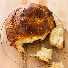 Try Wisconsin Spicy Cheese Bread- Cook's Country Recipe! You'll just need Bread:, 3 1/4 cups (16 1/4 ounces) all-purpose flour, 1/4 cup (1 3/4 ounces)...
