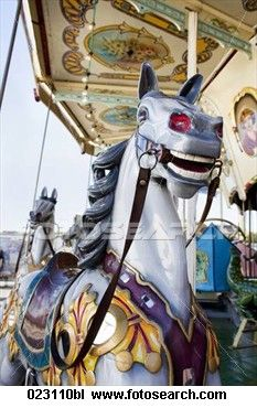 Detail of old fashioned merry-go-round at the munich oktoberfest