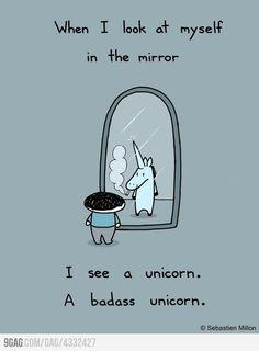 A badass unicorn
