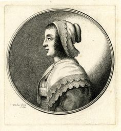 Wenceslaus Hollar 1607-1677. Portrait of a woman, head and shoulders in profile…
