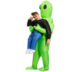 🔥Everyone will wonder why the Alien has Abducted you 😂 🔥Order Now & Enjoy 30% Off + Free Shipping Costumes Alien, Up Costumes, Adult Costumes, Halloween Costumes, Halloween Cosplay, Alien Halloween, Halloween Fancy Dress, Halloween Party, Funny Halloween