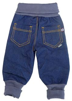 Sewing baggy jeans for little robbers - # for .- Sewing baggy jeans for little robbers – # for a little # - Toddler Outfits, Baby Boy Outfits, Kids Outfits, Diy Clothes Kimono, Doll Clothes, Sewing For Kids, Baby Sewing, Sewing Box, Baby Boy Fashion