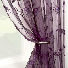 A LOVELY SHEER PANEL....IN AMYTHEST VOILE.....BE CREATIVE....YOU CAN USE A SHEER PANEL FOR WINDOWS.....FRAME AN ALCOVE.....FRAME YOUR BATH TUB.....DRAPE A CANAOPY OR POSTER BED!!!!
