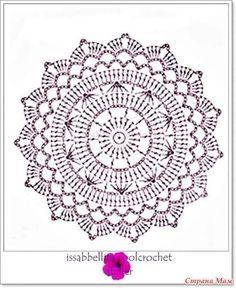Esquema Patr N Mandala Crochet Ganchillo: Motivos Circulares Crochet Ideas – Florida Mesothelioma Lawyer Motif Mandala Crochet, Crochet Doily Patterns, Crochet Chart, Crochet Squares, Thread Crochet, Diy Crochet, Crochet Stitches, Doily Rug, Crochet Poncho