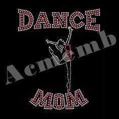 Dance Mom Rhinestone Shirts Transfers For Decals