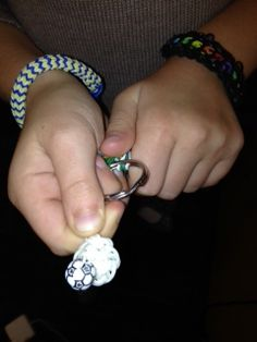My youngest made one of these loom key chains for each girl on her soccer team--so thoughtful!