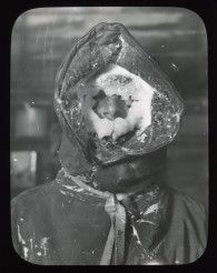 "1913: Ice Mask  ""The icy face of the meteorologist C.T. Madigan, a member of the Australasian Antarctic Expedition team."" -Frank Hurley, 1885-1962"