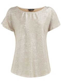 silver crinkle tee - Dorothy Perkins - this would be so versatile