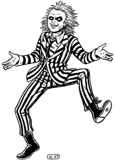 Free Coloring Page Movie Beetlejuice Tim Burtons