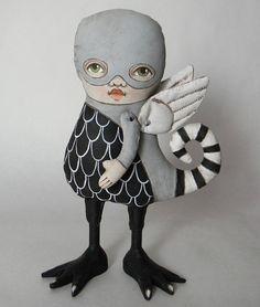Monster Doll Original Contemporary Folk Art by cartbeforethehorse