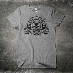 Barbell Rocker T-Shirt Heather Grey Front