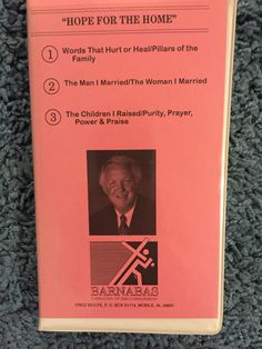 """Fred Wolfe """"Hope For the Home"""" 3 Cassette tape series"""