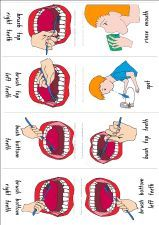 FREE PRINTABLE step-by-steo visual for brushing your teeth via visual aids for learning. com