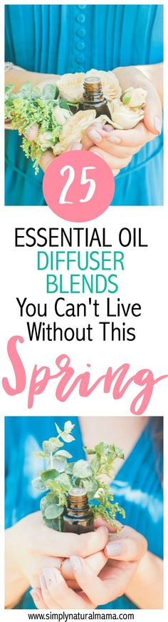 I am so excited that spring is here, and I am even more excited that I found these 25 essential oil diffuser blends that I can't live without! I am looking forward to diffusing a different one every time to help get into the springtime mood! via @simplynaturalma