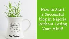 How to Start a Successful Blog in Nigeria Without Losing Your Mind! Make Money Online, How To Make Money, Best Online Business Ideas, Company Job, Lose Your Mind, Creating A Blog, Free Blog, Helping People, How To Start A Blog