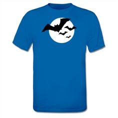 Bats and Moon Halloween T-Shirt, available @Shirtcity, http://www.shirtcity.de/fliegende-fledermause-und-mond-t-shirt-93370