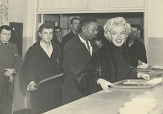 Marilyn visiting a military hospital in Japan, 1954.
