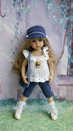 """OOAK OUTFIT FOR DOLLS 13"""" Dianna Effner Little Darling and Betsy McCall 14"""" 