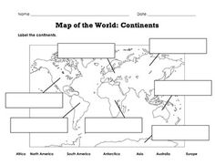 Blank continents and oceans worksheets continents and oceans continents of the world worksheets label map of the world continents oceans gumiabroncs Image collections