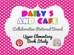 daily 5/CAFE pinterest board