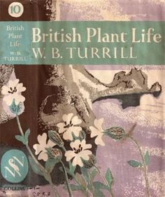 Clifford and Rosemary Ellis, book jacket, cover, nature, colour, print, texture, flowers, plant, british, illustration