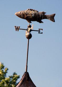 ♥ yard art :garden . . .   fish weathervane