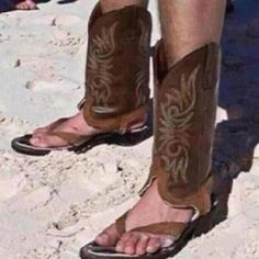 cowboy boot flip flops | hey flip flop cowboy boots wearer i promise the boots can stay at home ...