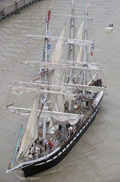 Le Belem va naviguer sur la Tamise en juillet et août.