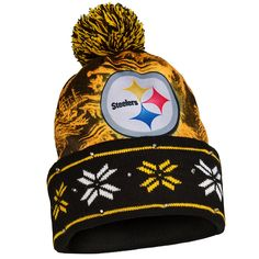31626b2552c Amazon.com   NFL Pittsburgh Steelers Light Knit Up Hat   Sports  amp   Outdoors
