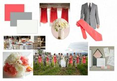 This is it, y'all. My wedding colours are coral and grey, with accent colours of yellow and maybe another neutral!