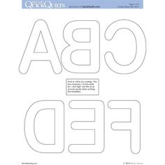 FOREVER FRIENDS FREE Alphabet Templates Personalize any quilt with these letter and symbol applique shapes designed to use with paper-backed fusible web