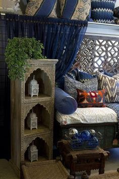 Bohemian Decor: Note Feature At Top Of Curtains