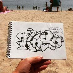 The name Kaso...  #art #artsy #artistic #graff #graffart #grafflettering #graffname #graffiti #graffitiart #graffitilettering #graffitiporn #graffitiname #name #lettering #KASO #streetart #urbanart #wallart #beach #draw #drawing #sketch #sketching #sketchbook #blackbook