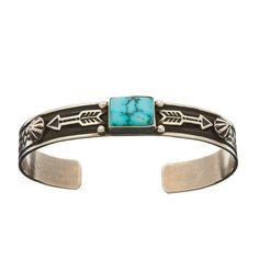 Bracelet Navajo, Turquoise Turquoise Mountain sur argent.   Harpo Paris…