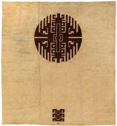 IVAN DA SILVA BRUHNS Modernist rug, c. 1930, initials woven into pile, 350 x 250 cm.