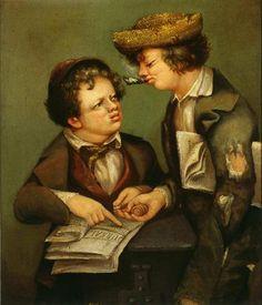 David Gilmour Blythe.  The Newsboys, 1850.