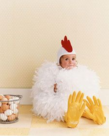 """I made this popular Martha Stewart outfit for my daughter when she was 1 1/2-still my favorite outfit. I made a matching """"fried egg"""" bag out of felt to collect her halloween candy."""