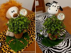 Festa_na_Selva 11 Safari Party, Jungle Theme Parties, Jungle Party, Wild One Birthday Party, 1st Boy Birthday, Baby Shower Parties, Baby Shower Themes, Safari Centerpieces, Lion King Baby Shower