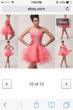 Gorgeous mini pink cocktail homecoming/prom dress!