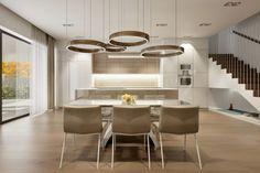 Krásne kruhové svietidlá dominantou priestoru Table, Furniture, Home Decor, Decoration Home, Room Decor, Tables, Home Furnishings, Home Interior Design, Desk
