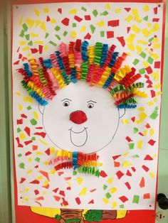 Karneval – The World Fun Crafts For Kids, Activities For Kids, Art For Kids, Diy And Crafts, Arts And Crafts, Circus Crafts, Carnival Crafts, Clown Crafts, Theme Carnaval