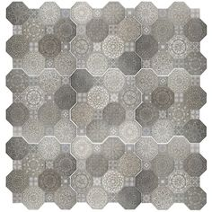 "Imagino 17.75"" x 17.75"" Ceramic Field Tile in Gray Love this tile, in grays. Under $4 a foot. Kitchen? Bath? AllModern"