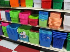 Get organized with baskets from the dollar store