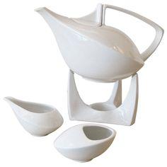 Friesland Porcelain Tea Set | From a unique collection of antique and modern tea sets at https://www.1stdibs.com/furniture/dining-entertaining/tea-sets/