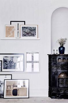 black + white art