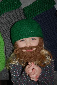 Made Upon Ordering Beard Beanie Child Size 2 to 4 by MoMmAb7, $25.00