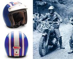 Steve McQueen ReplicaHelmet - Pipeburn - Purveyors of Classic Motorcycles, Cafe Racers & Custom motorbikes