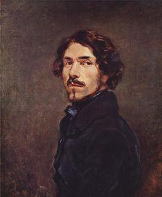 Self Portrait- Eugene Delacroix -1840, Galleria degli Uffizi.