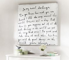 My Sweet Darlings Art | Pottery Barn Kids this would be adorable in a girls' shared bedroom <3